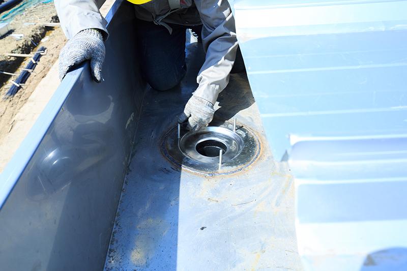 钢结构厂房虹吸排水系统施工 智慧雨