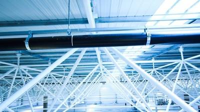 智慧雨屋面虹吸排水管安装