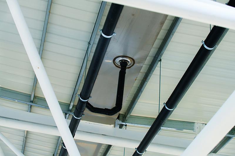虹吸式排水系统为何细进水管不用吊 智慧雨